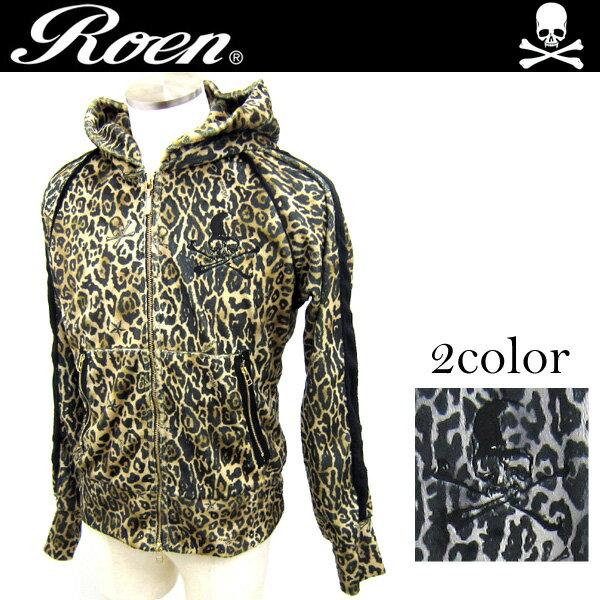 Roen(ロエン) Leopard Parka レオパードパーカー メンズ 長袖 72147112 スカル【\6,480以上購入で送料無料】BL2