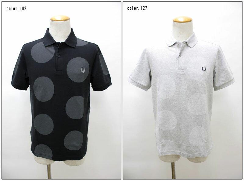 FRED PERRY 【フレッドペリー】 ビッグドットプリント半袖ポロシャツ M4201 【10P09Jul16】