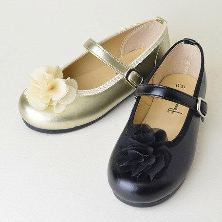 女の子靴 キッズ 子供靴 シフォン お花付き シューズ 入園 入学 卒園 卒業 日本製 国産品 靴 子供用 女の子