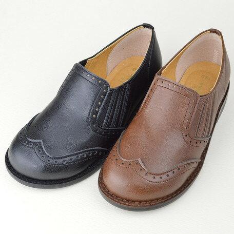 女の子靴 キッズ 子供靴 ウイングチップ風 スリッポン 日本製 国産品 男の子用 女の子用 男女兼用 ユニセックス 靴 シューズ 子供用 女の子