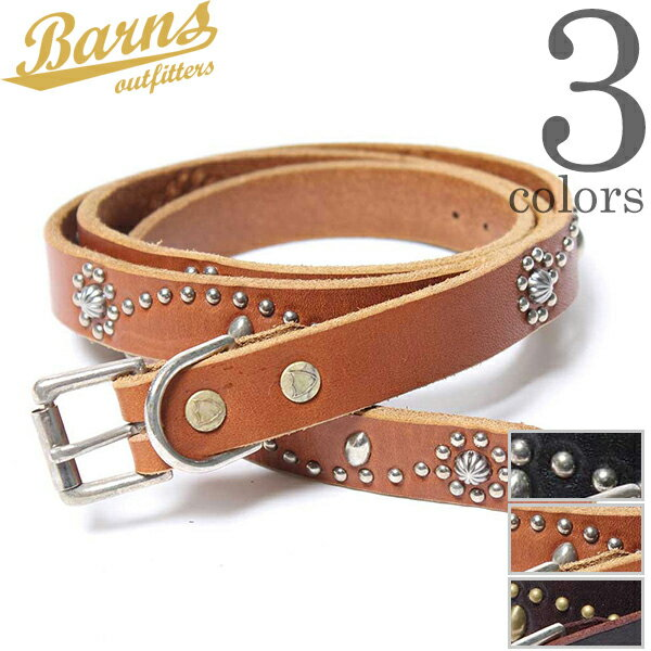 【FINAL SALE】【30%OFF】BARNS OUTFITTERS VINTAGE STUDS 20MM BELT HTC ヴィンテージ スタッズ 20MM レザー ベルト アメカジ 下北沢直営店 日本製 メンズ