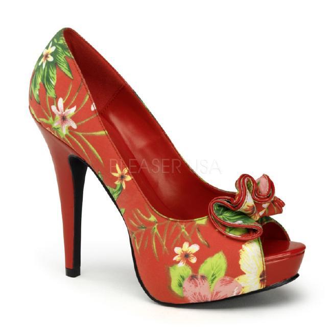 LOLITA-11 5.25インチ(約13cm) ハイヒール パンプス 派手柄/Pleaserプリーザー レトロな靴 パーティー シンデレラサイズ 大きい