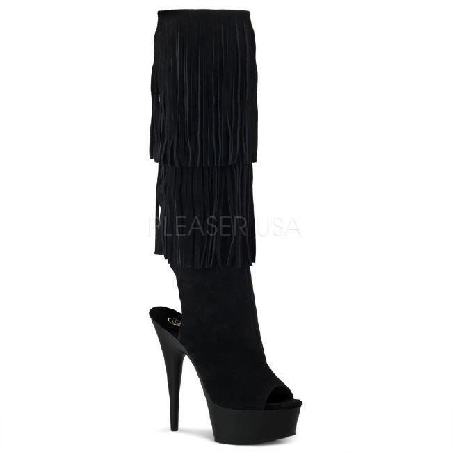 DELIGHT-2019 6インチ(約15cm) ハイヒール ブーツ /Pleaserプリーザー パーティー 靴 シンデレラサイズ 大きい
