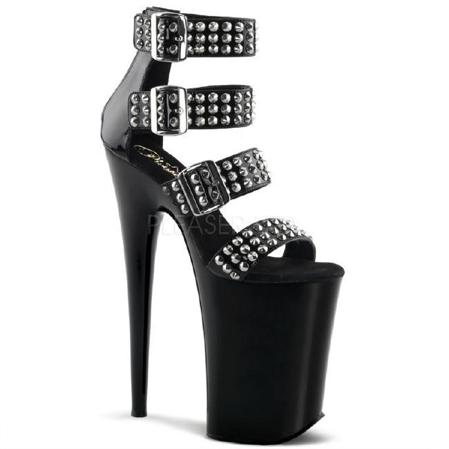 INFINITY-989ST 9インチ(約23cm) ハイヒール ミュール サンダル/Pleaserプリーザー パーティー 靴 シンデレラサイズ 大きい