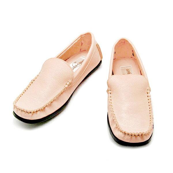 No.6002 バスクラフト モカシンローファー 4.オフピンク(レディース シューズ おしゃれ かわいい 21.5cm 小さい靴 22 23 24cm 25cm 大きい ホワイト 白 シンプル 柔らかい 軽い)