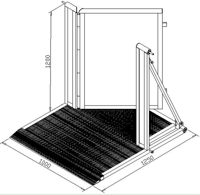 バリアー ドア 軽量なアルミ製 Barrier door ビームテック