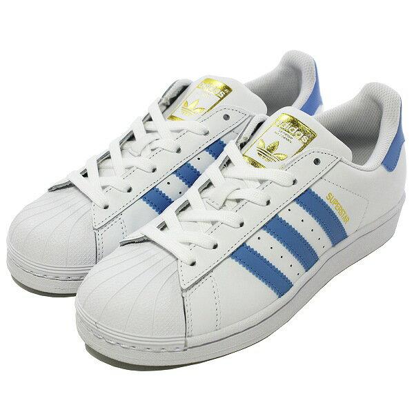 【500円OFFクーポン 9/20 9:59まで】 【送料無料】 アディダス スーパースター W (ウィメンズ) [サイズ:23.5cm(US6.5)] [カラー:ホワイト×ライトブルー] #BY3723 【アディダス: 靴 メンズ靴 スニーカー】【ADIDAS adidas SUPER STAR W FTWWHT/LTBLUE/GOLDMT】
