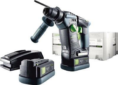 FESTOOL コードレスハンマードリル BHC 18 Li 5.2Ah Set 【1台】【564606J】(電動工具・油圧工具/ハンマードリル)
