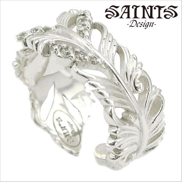 【SAINTS Design セインツ デザイン】ホワイトジルコニアフェザーリング シルバー925製/レディース セインツ SSR12-111CLR【送料無料】