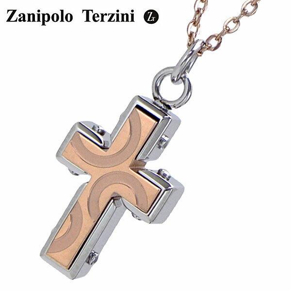 Zanipolo Terzini(ザニポロ・タルツィーニ)サージカルステンレス製ペンダント/ネックレス レディース クロス・十字架 ローズゴールドIP ZTP1924-RG