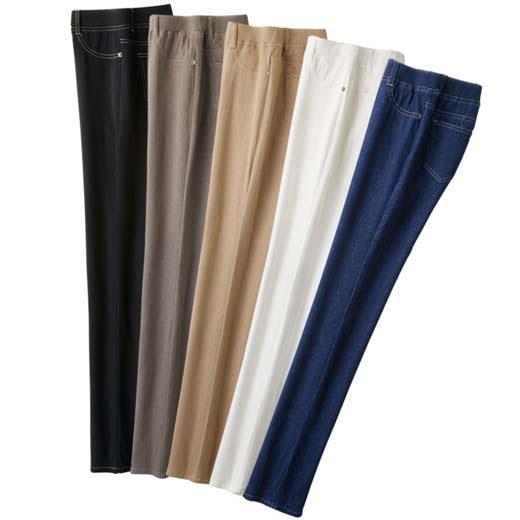 【5本組】魅惑の5カラージーンズ(3L~5L) ベルーナ べるーな 40代 50代 60代 レディース ミセス ファッション 綿 夏 大きいサイズ 【5本組】魅惑の5カラージーンズ(3L~5L) ベルーナ べるーな 40代 50代 60代 レディース ミセス ファッション 綿 夏 大きいサイズ