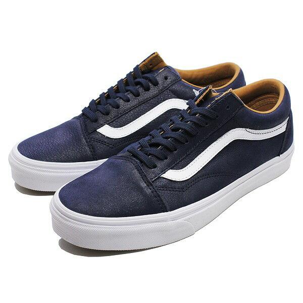 無印良品 【バンズ】 バンズ オールドスクール [サイズ:28cm(US10)] [カラー:(プレミアムレザー) パリジャンナイト×トルゥーホワイト] #VN0A38G1MRU 【靴:メンズ靴:スニーカー】【VN0A38G1MRU】【VANS VANS OLD SKOOL (Premium Leather) Parisian Night/True White】