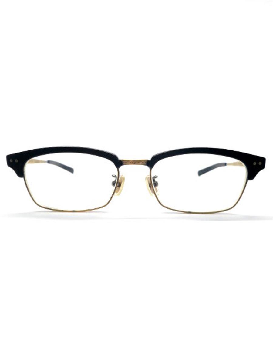 恒眸作 ポーカーフェイス 眼鏡 メガネフレーム サーモント ブロ【Bランク】【中古】as290629