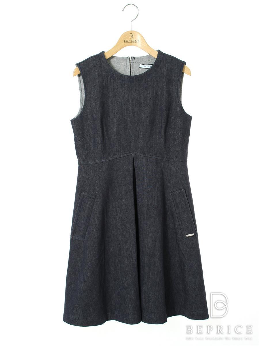 FOXEY NEWYORK フォクシー ワンピース Dress INDIGO【40】【Aランク】【中古】tn290831t