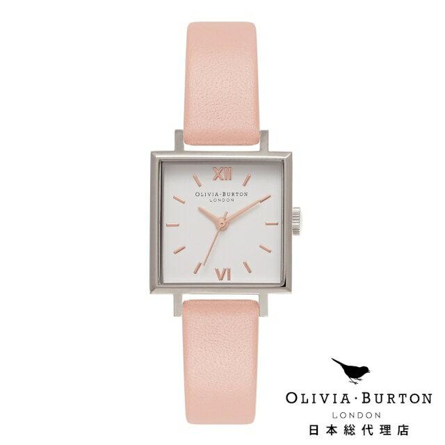 オリビアバートン レディース 腕時計 Olivia Burton ミディ スクエア ダイヤル ダスティピンク シルバー & ローズゴールド オリビアバートン日本正規総代理店