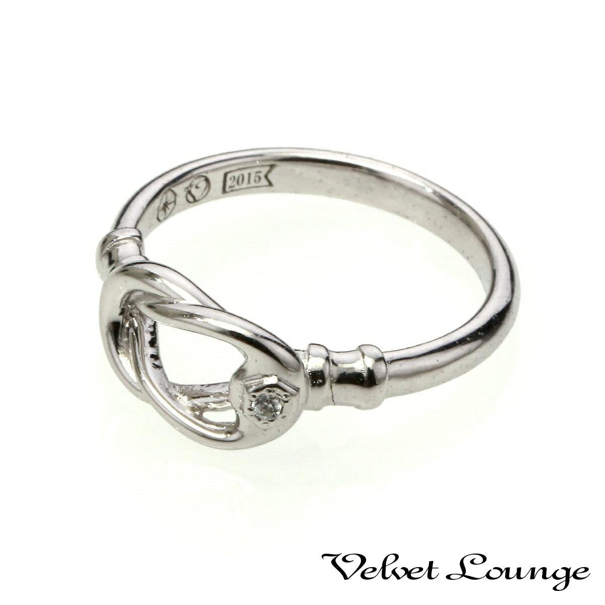 ヴェルヴェットラウンジ【Velvet Lounge】Curved hook カーブドフックリング/ホワイト/ホワイトキュービックジルコニア