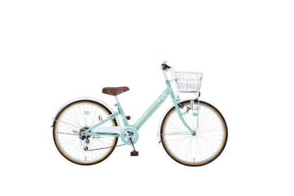 【送料無料】 タマコシ 22型 子供用自転車 マハロジュニアV226(グリーン/6段変速)【組立商品につき返品不可】 【代金引換配送不可】