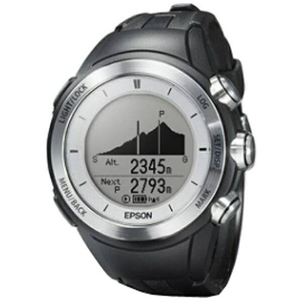 【送料無料】 エプソン EPSON GPS機能搭載ウオッチ 「WristableGPS」 MZ-500S(シルバー)[MZ500S]