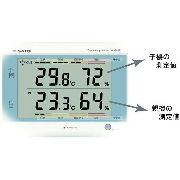 【送料無料】 佐藤計量器製作所 佐藤 最高最低無線温湿度計 SK-300R(8420-00) SK-300R