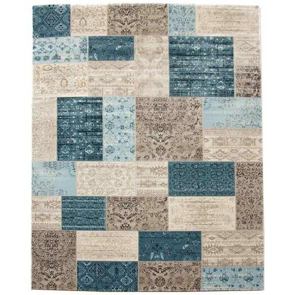 【送料無料】 イケヒコ ラグ トルコ製 ウィルトン織り「キエフ」(240×330cm/ブルー)