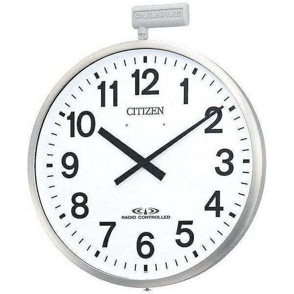 【送料無料】 リズム時計 屋外用電波掛時計「ポールウェーブSF」 4MY611-N19