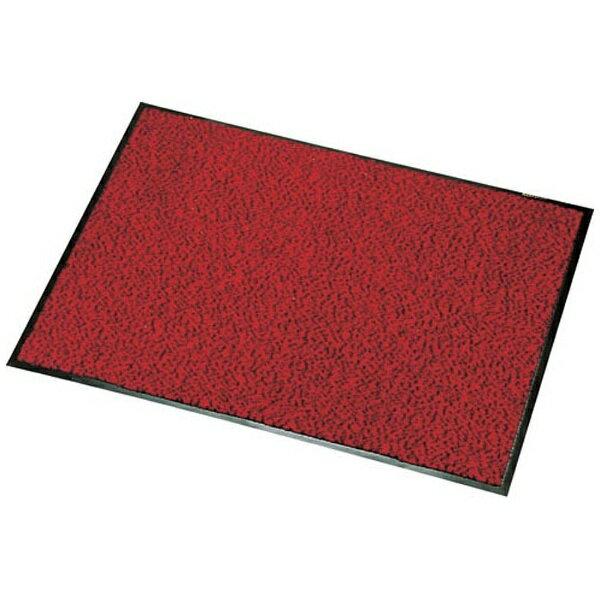 【送料無料】 山崎産業 ロンステップマット 900×1500mm 赤黒 <KMT20153Z>