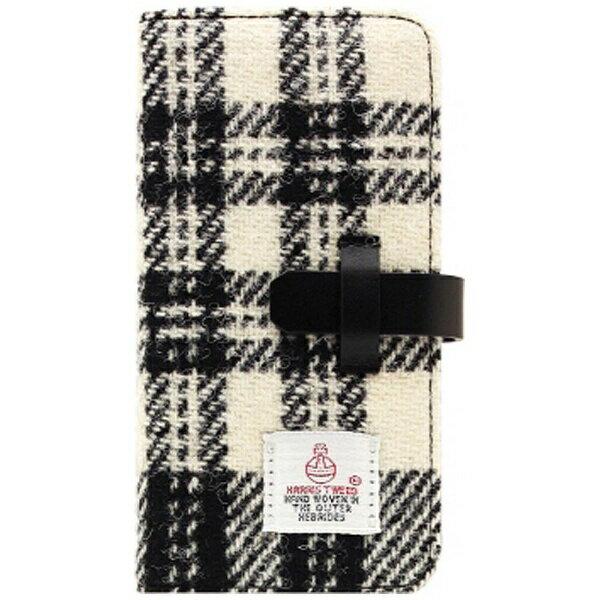 【送料無料】 ROA iPhone 7 Plus用 Harris Tweed Diary ホワイト×ブラック SLG Design SD8154i7P