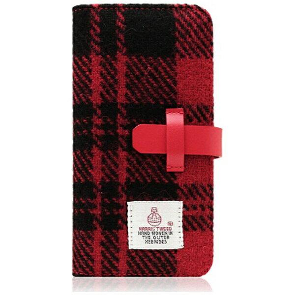 【送料無料】 ROA iPhone 7 Plus用 Harris Tweed Diary レッド×ブラック SLG Design SD8153i7P