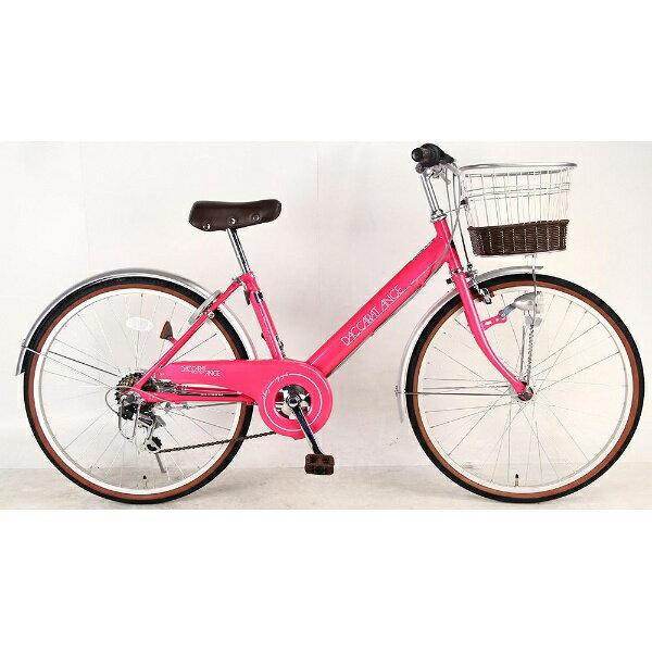 【送料無料】 サイモト自転車 20型 子供用自転車 ダカラットアンジュ(ピンク/6段変速)【組立商品につき返品不可】 【代金引換配送不可】【メーカー直送・代金引換不可・時間指定・返品不可】