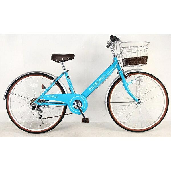 【送料無料】 サイモト自転車 24型 子供用自転車 ダカラットアンジュ(ブルー/6段変速)【組立商品につき返品不可】 【代金引換配送不可】【メーカー直送・代金引換不可・時間指定・返品不可】