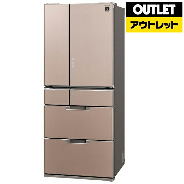 【標準設置費込み】 シャープ 【アウトレット品】6ドア冷蔵庫(580L)SJ-GF60B-Tサテンブラウン「GFシリーズ」【生産完了品】SJGF60BT 【kk9n0d18p】