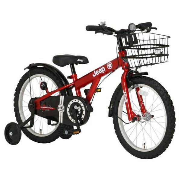 【送料無料】 ジープ 16型 幼児用自転車 JEEP JE-16G(レッド/シングルシフト) 34119【2017年モデル】【組立商品につき返品不可】 【代金引換配送不可】
