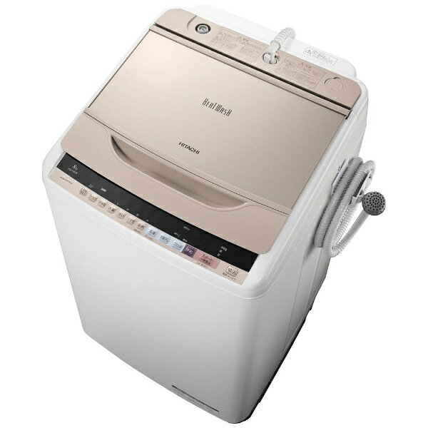 【標準設置費込み】 日立 全自動洗濯機 (洗濯8.0kg)「ビートウォッシュ」 BW-V80B-N シャンパン