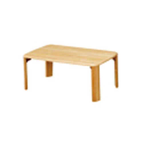 折脚集成材テーブルナチュラル75×50【整理保管・事務用家具/会議用テーブル】
