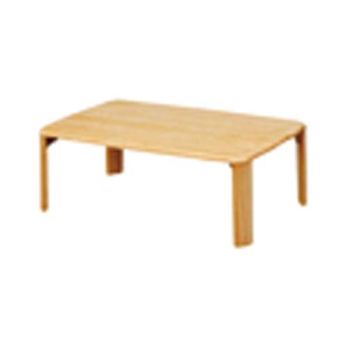 折脚集成材テーブルナチュラル90×60【整理保管・事務用家具/会議用テーブル】