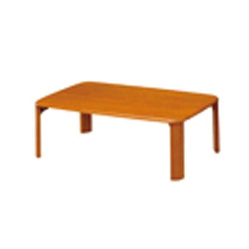 折脚集成材テーブルブラウン90×60【整理保管・事務用家具/会議用テーブル】
