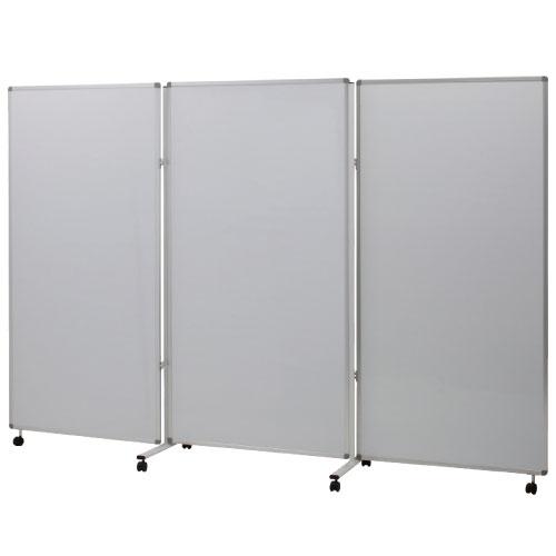 3連ホワイトボードパネル 3LB-63SSWW 送料無料[メール便不可](備品 展示板・展示パネル)