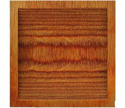 PW-26 ウッド両チリ落角 生地 中 50個入  茶色系 正方形 木製 接着剤止め 12mm両面可 襖に  家具に  シック ナチュラル BIDOOR(ビドー)