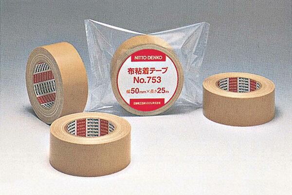 ニットー No.753 布粘着テープ 50mm×25m 30巻入  接着剤 テープ類