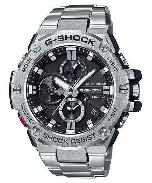 国内正規品 CASIO G-SHOCK カシオ Gショック Gスチール モバイルリンク メンズ腕時計 GST-B100D-1AJF