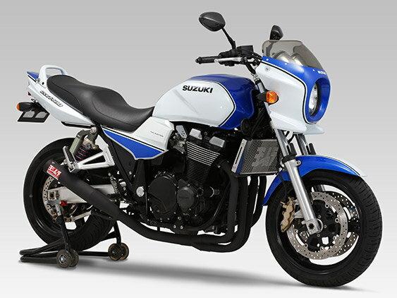 ヨシムラ 110-115-5661 機械曲ストレートサイクロン マフラー SB ステンレスブラック GSX1400