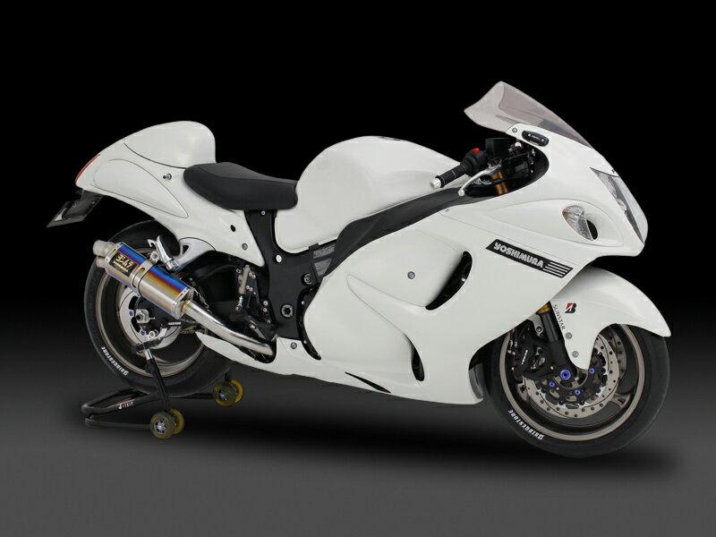 ヨシムラ 150-509-5H80 レーシングスリップオン TRI-OVAL サイクロン 2エンド マフラー ST チタンカバー GSX1300R隼