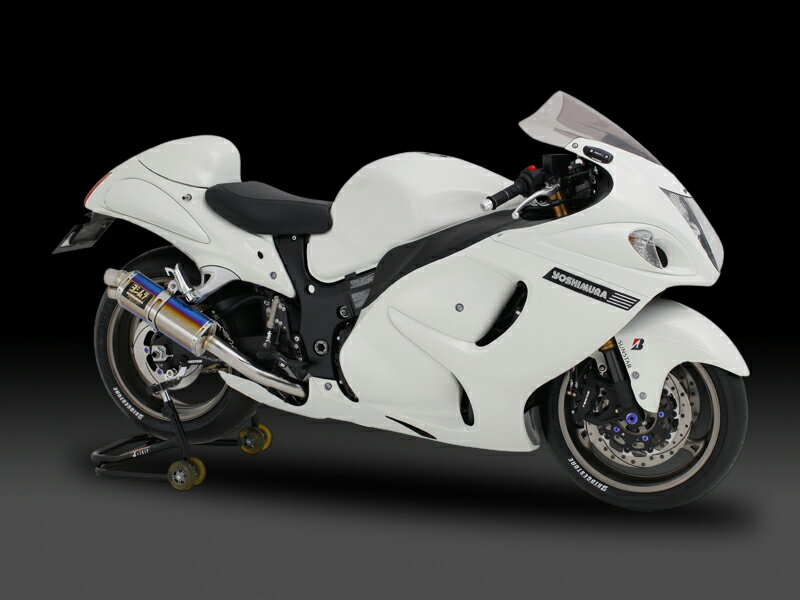 ヨシムラ 150-509-5H90 レーシングスリップオン TRI-OVAL サイクロン 2エンド マフラー SC カーボンカバー GSX1300R隼