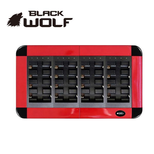 【BLACKWOLF(ブラックウルフ)】バッテリーチャージャー★18650リチウムイオンバッテリー専用★大型16本用