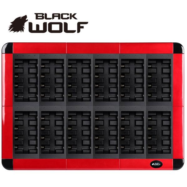 【BLACKWOLF(ブラックウルフ)】バッテリーチャージャー★18650リチウムイオンバッテリー専用★大型48本用