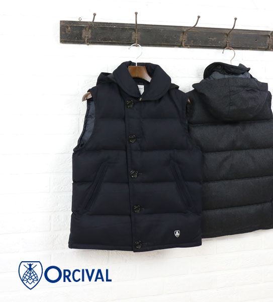 【オーチバル・オーシバル ORCIVAL】ウールフランネル  ダウンベスト・RC-8755FNN-0321602【メンズ】【JP】【アウター】【◎】