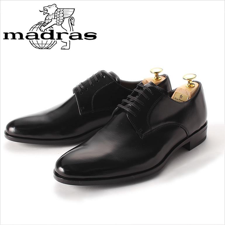 マドラス靴 MADRAS革靴 MADRAS 靴 マドラス 革靴 紳士靴 メンズ 男性用/M4402 [本革 ビジネスシューズ ドレスシューズ ビジネス ドレス プレーントゥ 外羽根 黒 ブラック ビジネス 就活 新卒 男性 メンズ 紳士 日本産 国産]