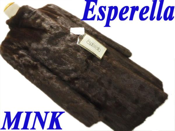 取り付け不可 【未使用】●Esperella●高級ミンク毛皮 ファーコート