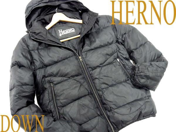 【中古】●ヘルノ HERNO 高級フーディダウンジャケット ルーマニア製 レディース/50