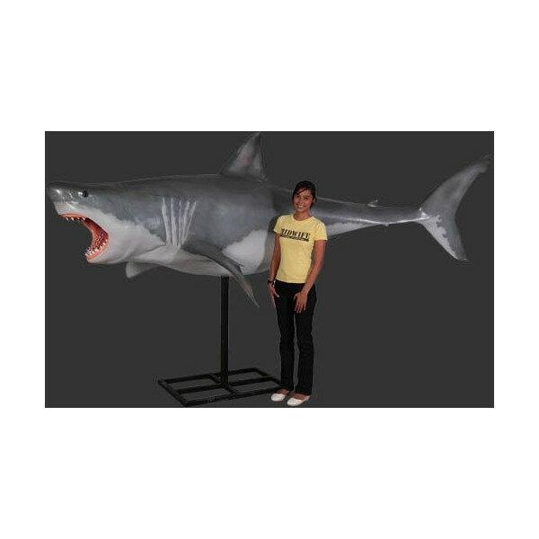 代引不可-全長3.3m!ジョーズ(サメ)巨大フィギュア・ウォールデコ(等身大 動物 フィギュア)